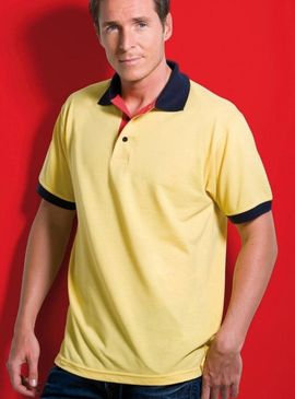 Kustom Kit Contrast Polo Shirt